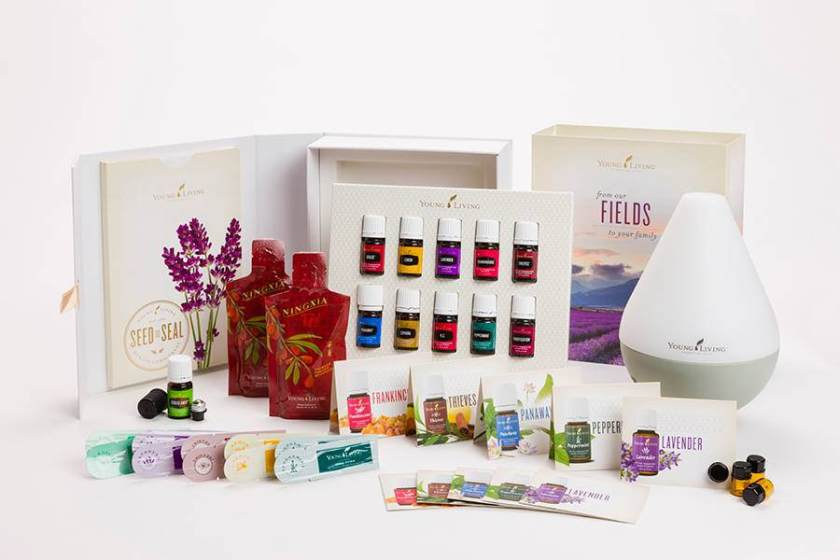 Dewdrop Diffuser, Young Living Premium Starter Kit, Peppermint, Lemon, Lavender, Thieves, Frankincense, R.C., Purification, PanAway, Stress Away, essential oils