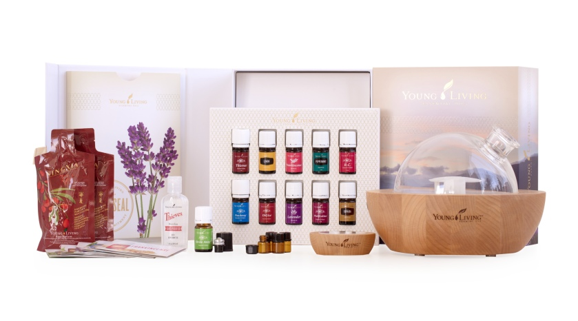 Aria Diffuser, Young Living Premium Starter Kit, Thieves, Peppermint, Lavender, Lemon, R.C., PanWay, StressAway